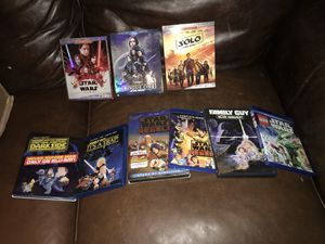 Star Wars Blu ray lot of 7 plus 2 dvd movies/shows for Sale in Abilene, TX