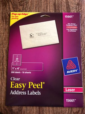 Avery: Clear Easy Peel Address Labels for Sale in Benicia, CA