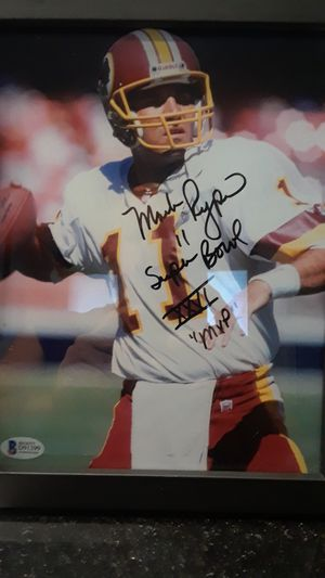 WASHINGTON REDSKINS MARK RYPIEN AUTOGRAPHED FRAMED 8 X 10 PHOTO for Sale in Clovis, CA