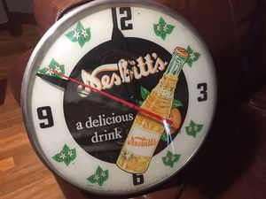 1956 Nesbitt's Orange Soda glass clock for Sale in San Jose, CA