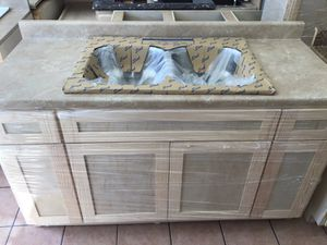 Kitchen cabinet countertop & sink 5ft for Sale in Cerritos, CA