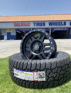 """17"""" ICON WHEELS & TIRES PACKAGES You Choose Rims Style Package Includes 285/70R17 Falken AT Tires Complete Package Only $1399 for Sale in La Habra, CA"""