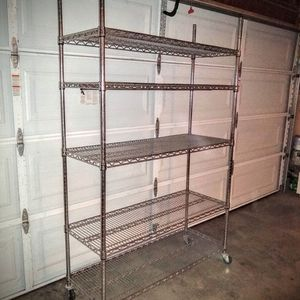 """74""""x 48"""" x 18"""" Polished Metal Shelves for Sale in Montebello, CA"""