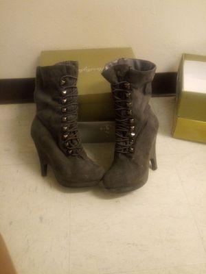 Beautiful Grey granny boots for Sale in Slidell, LA
