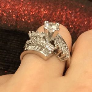 18K Gold plated Baguette Cut Ring- Code DN76 for Sale in Dallas, TX