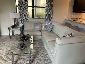 White leather sectional couch brand new for Sale in Homestead, FL