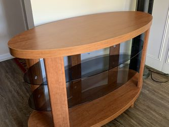TV Entertainment Stand In A Honey Color for Sale in Citrus Springs,  FL
