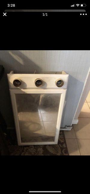 Bathroom vanity w light fixtures for Sale in Dearborn, MI