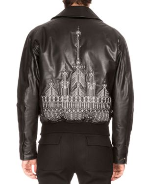 Berluti men's embroidered back leather jacket 54 brand new with tag for Sale in New York, NY