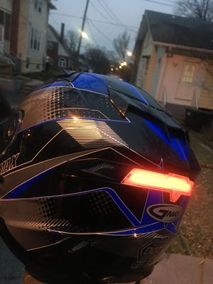 Motorcycle helmet 4 different light patterns rear for Sale in Washington, DC
