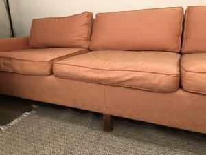 mid century modern pink couch for Sale in Portland, OR