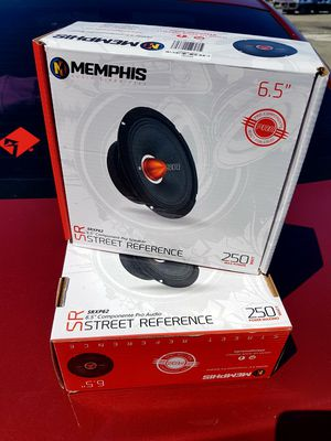 "Pair of Memphis SRXP62 6.5"" 250W RMS Pro Audio Component Speakers for Sale in Compton, CA"