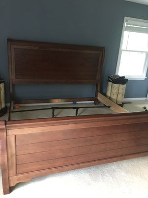 Solid wood King sleigh bed frame for Sale in Roanoke, VA