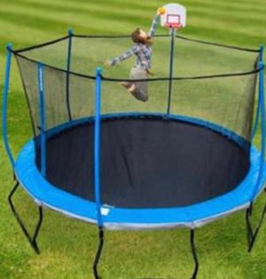 14 ft trampoline with basketball hoop for Sale in High Point, NC
