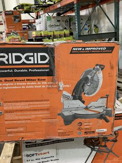RIDGID 15 Amp Corded 12 in. Dual Bevel Miter Saw with LED for Sale in Las Vegas,  NV
