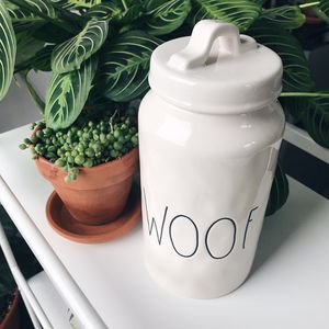 Rae Dunn WOOF Dog Canister / Container for Sale in Seattle, WA