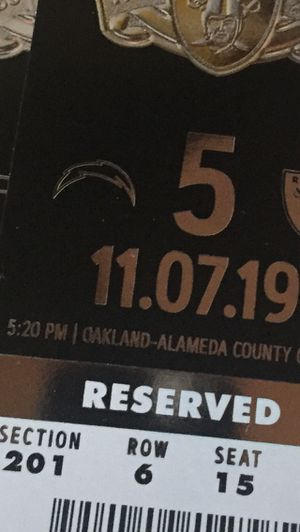 Raiders vs. Chargers for Sale in Lake Forest, CA