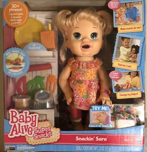 BABY ALIVE SNACKIN SARA for Sale in Webster, TX