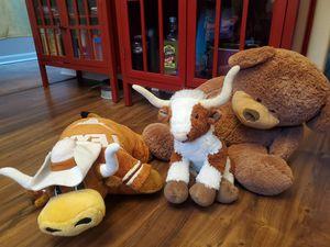 Texas Longhorns stuffed animals (2) & teddy bear for Sale in Houston, TX