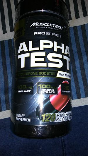 Muscle tech alpha test for Sale in San Diego, CA