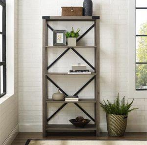 Grey wash Bookcase bookshelf - New for Sale in Taylor, MI