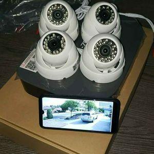 4 Security cameras System+labor- Hablo Espanol for Sale in Grand Prairie, TX