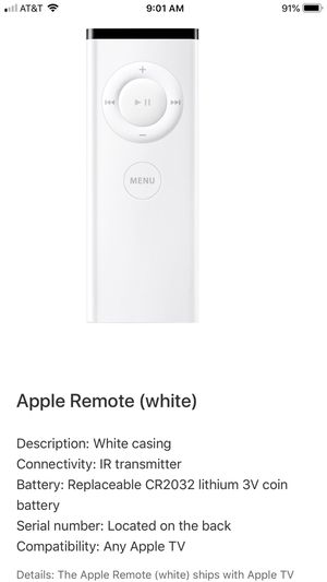 Apple remote-brand new in packaging for Sale in Huntington Beach, CA