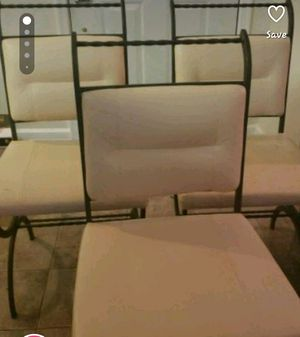 3 leather chairs & table for Sale in Manassas, VA