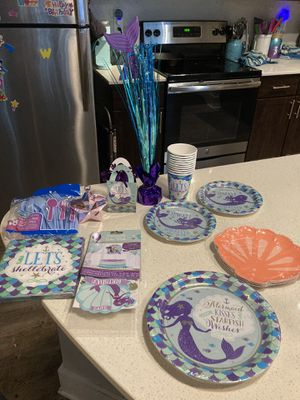 Mermaid party supplies for Sale in Walker, LA