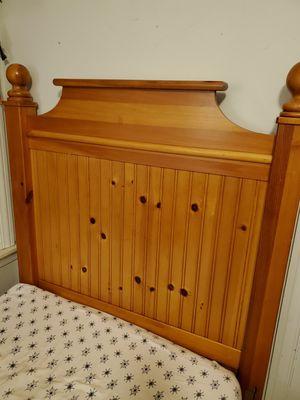 Twin knotty pine headboard (solid) for Sale in Dearborn, MI