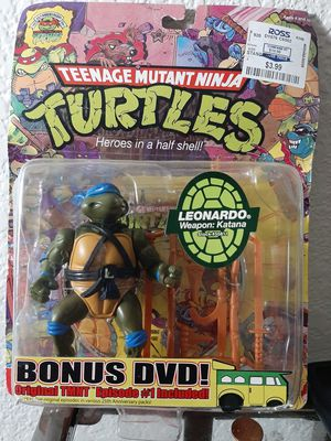 Leonardo collectible action figure with episode 1 DVD for Sale in Elk Grove, CA