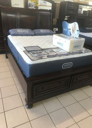 Storage platform bed frame for Sale in Lafayette, IN