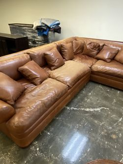 Restoration Hardware Leather L Couch for Sale in Huntington Beach,  CA