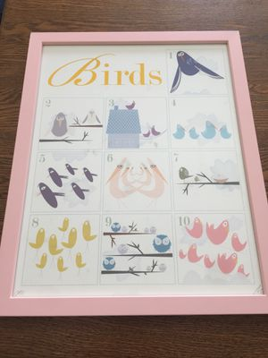 Nursery Art - Counting Birds Framed Print for Sale in Los Angeles, CA