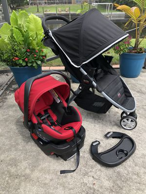 BRITAX Travel System Stroller & Car Seat + Tray for Sale in West Palm Beach, FL