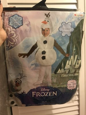 Brand New Olaf Costume size 2t for Sale in North Las Vegas, NV