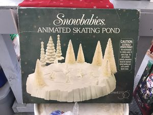 Snowbabies Animated Skating Pond for Sale in Loveland, OH
