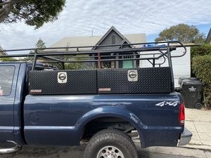 Daco truck rack and two weather guard tool boxes truck is not included only rack and tool boxes for Sale in View Park-Windsor Hills, CA
