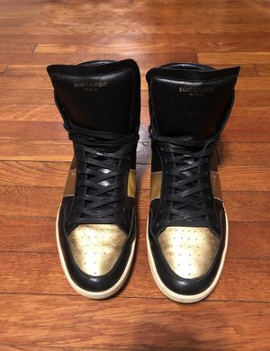 Men's Saint Laurent sneakers paid $695 size 12 authentic with Box! Good condition originally purchased a Saks for Sale in Washington, DC