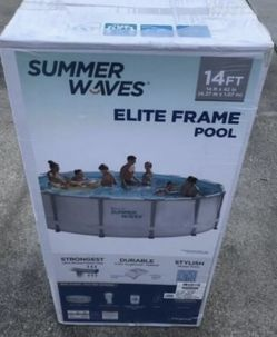 """Summer Waves Elite 14' x 42"""" Premium Frame Above Ground Swimming Pool with Filter Pump System And Deluxe Accessory Set for Sale in Las Vegas,  NV"""