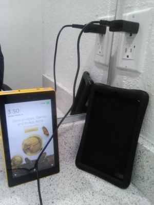 Amazon Fire Tablet w/ black case and charger for Sale in Los Angeles, CA