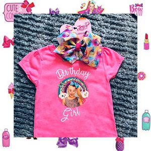 JoJo Siwa Birthday Girl Shirt & Hot Pink Cupcake Bow 🧁🎀 3T for Sale in Long Beach, CA