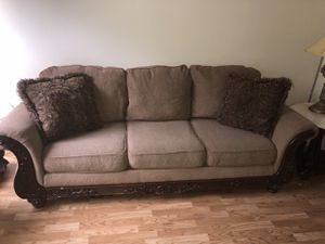 3 seat couches with 6 pillows cash only for Sale in Freehold, NJ