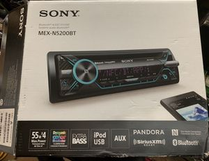 Sony Car Stereo, Single-DIN , CD Receiver with Bluetooth for Sale in San Antonio, TX