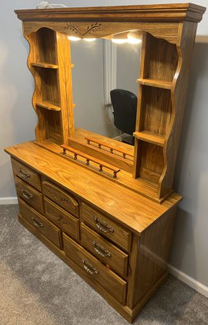 Dressing table with lighted mirror and chest drawer for Sale in Centreville, VA