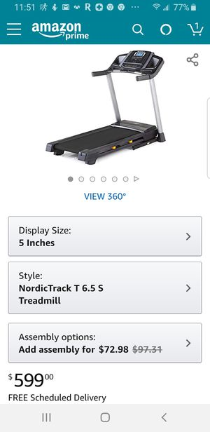 NordicTrack T Series Treadmills (6.5S & 6.5Si Models) for Sale in Peoria, AZ