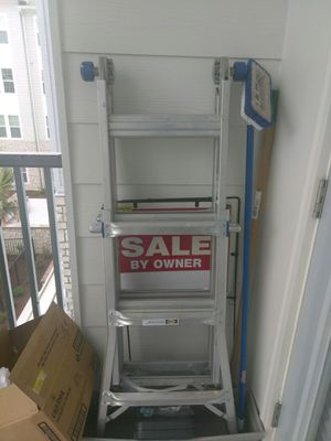 Werner 300lb, 13 feet ladder with attachment for Sale in Wesley Chapel, FL