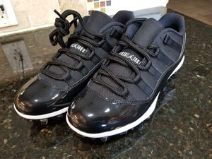Air Jordan XI 11 Retro Low TD Football Cleats Space Jam Black AO1560-011 Sz 8.5 for Sale in Sunrise, FL