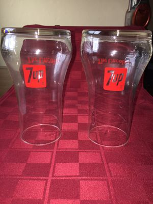 Vintage 1970's 7-Up Glasses (2) for Sale in Castro Valley, CA