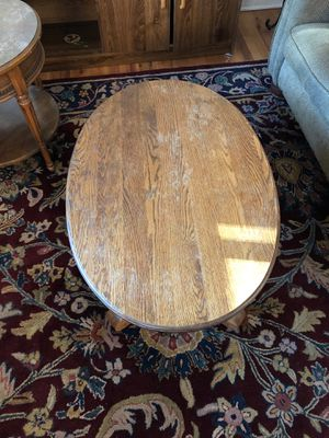"Solid Oak wood coffee table 38"" L x 25"" W x 17"" H for Sale in Denver, CO"